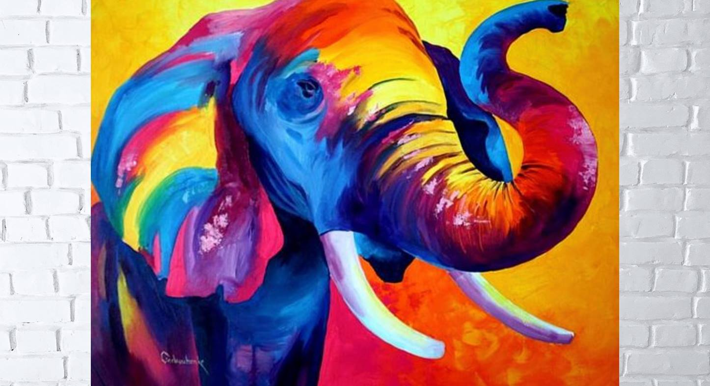 "Майстер-клас: ""Слон"" - акрил"